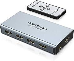 5X1 HDCP 2.2 HDMI Switch 4K 60HZ, Commutateur multiprise HDMI avec télécommande, WENTER Splitter HDMI 5 In 1 Out...