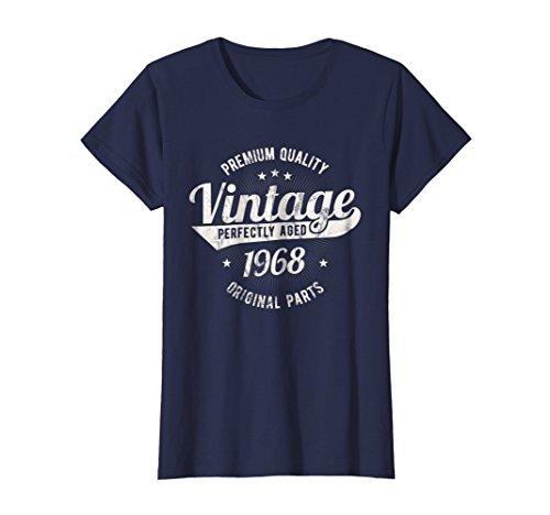 Womens Vintage Est 1968 T-Shirt 50 Years Old 50th Birthday Gift Medium ()