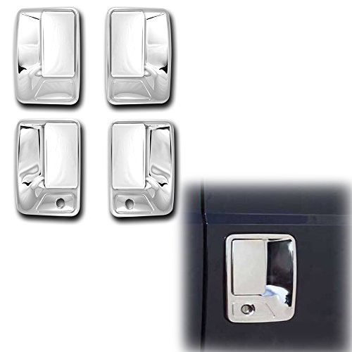 Handle Door Excursion Chrome (AutoModZone Chrome ABS 4 Door Handle Cover with PSG Keyhole for 00-06 Ford Excursion)