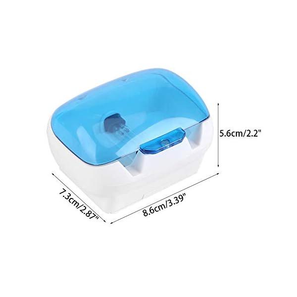 Ainstsk Esterilizador de cepillos de Dientes, Montaje en la Pared, UV, luz de Cepillo, esterilizador, Limpiador… 2