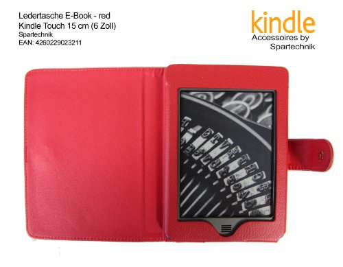 Tasche für Kindle Touch rot - bestes Case für AMAZON Kindle Touch, WLAN, 15 cm (6 Zoll) E Ink E-Book Reader - rot