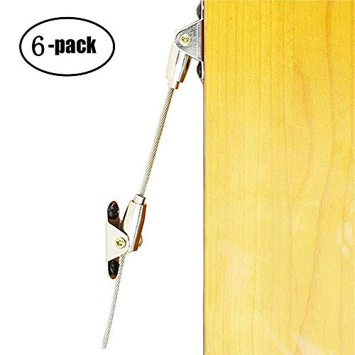 WOOCH Metal Anti-Tip Furniture Safety Straps - Childproof Wall Straps with Adjustable Length for Baby Proofing,with Discreet Design, Sturdy Hardware Included(6 ()
