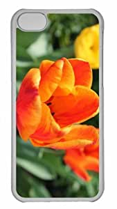 LJF phone case Customized iphone 4/4s PC Transparent Case - Tulipe Personalized Cover