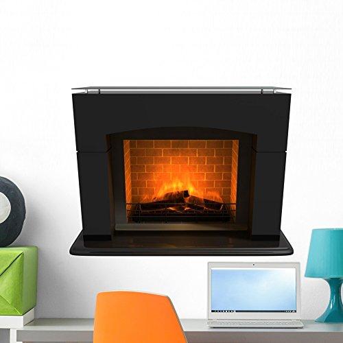 Wallmonkeys WM233649 Fireplace2 Peel and Stick Wall Decals (24 in W x 16 in H), Medium ()