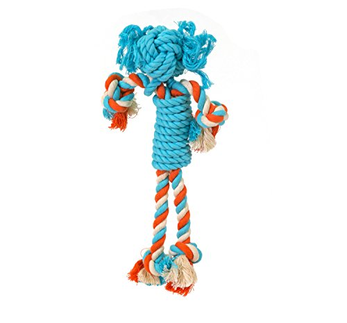 Onedrope 100% Natural, 100% Cotton, Handmade Girl Rope Toys dyed with non-toxic, pet safe dyes, Size: Midi: 30 cm (Girl With A Pearl Earring)