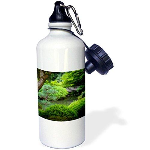 3dRose wb_189535_1 Japanese Garden, Portland, Oregon, Usa Sports Water Bottle, Multicolor, 21 oz by 3dRose