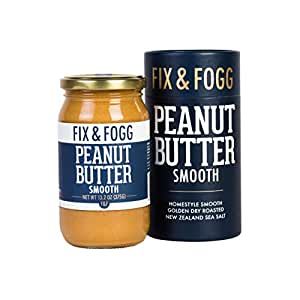 Gourmet Smooth Peanut Butter. All Natural and Project Non-GMO certified from Fix & Fogg. Naturally Textured, our take on Creamy PB. Vegan, Keto Friendly, in Beautiful Gift Packaging (13.2 oz)