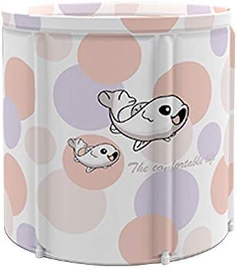 浴槽 ペンギン柄家庭用フルボディバスバレル折りたたみバスタブリムーバブルバースバレル大人のバースバレル65x70cm 大人用家庭用 (Color : Pink, Size : 65x70cm)