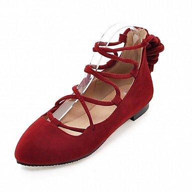 Cómodo y elegante soporte de zapatos de las mujeres pisos comodidad diseño de primavera verano otoño Charol Piel Sintética boda oficina y carrera vestido casual fiesta y noche soporte de talón marrón oscuro