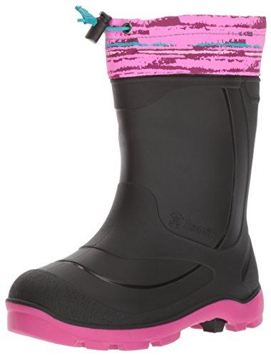 Kamik Children's Snow Boots (Kamik Girls' Snobuster2 Snow Boot, Magenta/Black, 13 Medium US Little Kid)