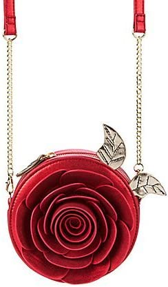 FAB Starpoint Disney Danielle Nicole Beauty and The Beast Enchanted Red Rose Crossbody Bag