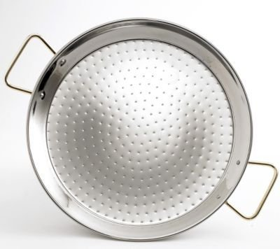 Garcima Stainless Steel Paella Pan (15 inches/ 38 cm)