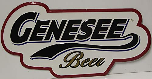 Genny Beer Metal Tacker Sign die Cut 23 x 12