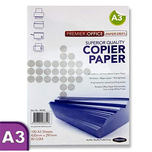 Premier papeterie Premier Depot A3/80/g//m/² Copier papier lot de 100/feuilles