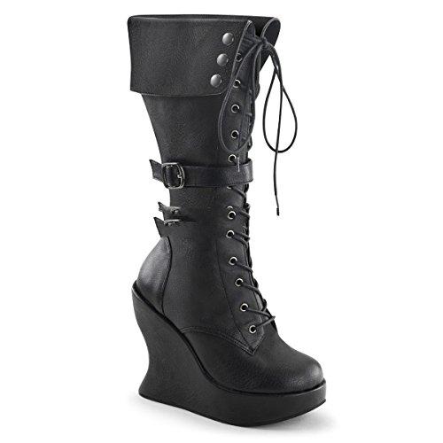 wedge 114 industrial platform industrial 5 3 Demonia Bravo boots punk punk 8 gothic 0WpZqc4