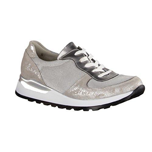 Waldläufer H64001-407-349 - Zapatos de cordones de Piel para mujer gris