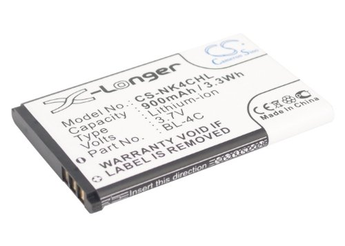 900mAh Battery for Nokia 1265,1325,2650,2651,2652,3108,5100,6066,6088,6100,6101, 6102i,6103,6125,6126,6131,6133 ()