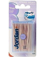 Jordan Tandenstoker Dun Mint, 100 Stuk
