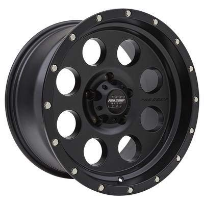 Pro Comp Wheels 5045-7973 Xtreme Alloys Series 5045 Satin Black Finish Size 17x9 Bolt Pattern 5x5 in. Back Space 4.5 in. Offset -6 Max Load 2500 Xtreme Alloys Series 5045 Satin Black Finish