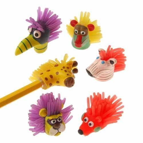 US Toy - Wild Animal Pencil Toppers, (1 1/2 Inches) (Assorted) (2-Pack of ()