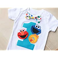 Sesame Street Birthday Outfit, Elmo Birthday Outfit, Cookie Monster Birthday Outfit