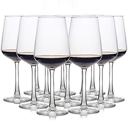 UMI UMIZILI [Set of 12] 12 Ounce Durable Wine Glass for Red or White Wine, Clear, Lead Free