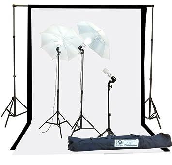 Fancierstudio 1000watt Lighting Kit Black White Muslin Backdrop and background stand kit By Fancierstudio K105BW  sc 1 st  Amazon.com & Amazon.com : Fancierstudio 1000watt Lighting Kit Black White ... azcodes.com