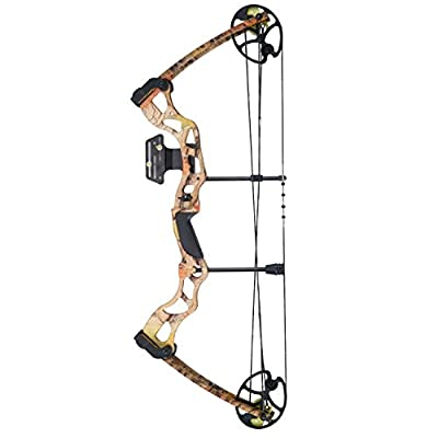 "Leader Accessories Compound Bow 50-70lbs 25"" - 31"" Archery Hunting Equipment with Max Speed 310fps, right handed"