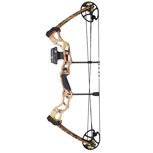 "Leader Accessories Compound Bow 50-70lbs 25"" - 31"" Archery Hunting Equipment with Max Speed 310fps, Right Handed from Leader Accessories"