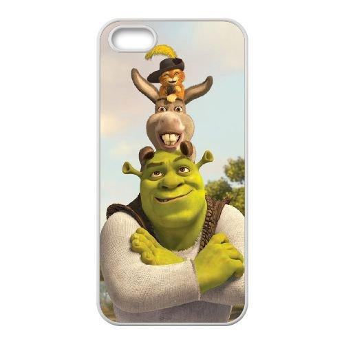 Y4H45 Shrek et l'âne Puss R1H5HV coque iPhone 4 4s cellule de cas de téléphone couvercle coque blanche DM6HUJ5IO
