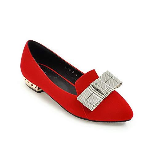 Femme AdeeSu 36 EU SDC05821 Sandales Compensées 5 Rouge Red AACPqg