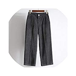 I Ll Never Be Her New Women S Pants 2018 Autumn Winter High Waist Wide Leg Pants Casual Loose Corduroy Cropped Trousers Gray L
