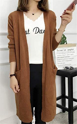 Saoye Longues Longues Cardigan Veste Automne Femme en Hiver El Manches Fashion Tricot Zr7xqwXZ1