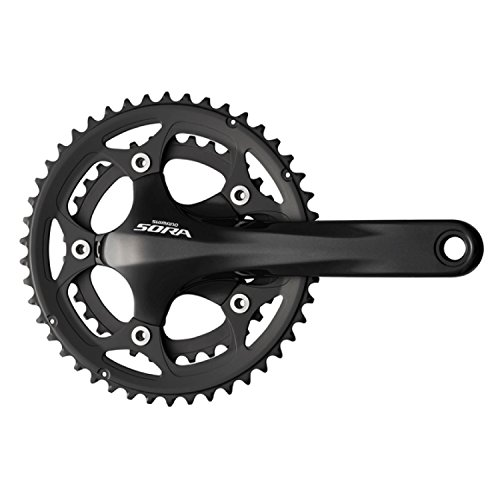 UPC 689228301665, Shimano FC-3550 Sora Hollowtech II Crankset-50/34T Compact 9 Speed (Black, 175-mm)