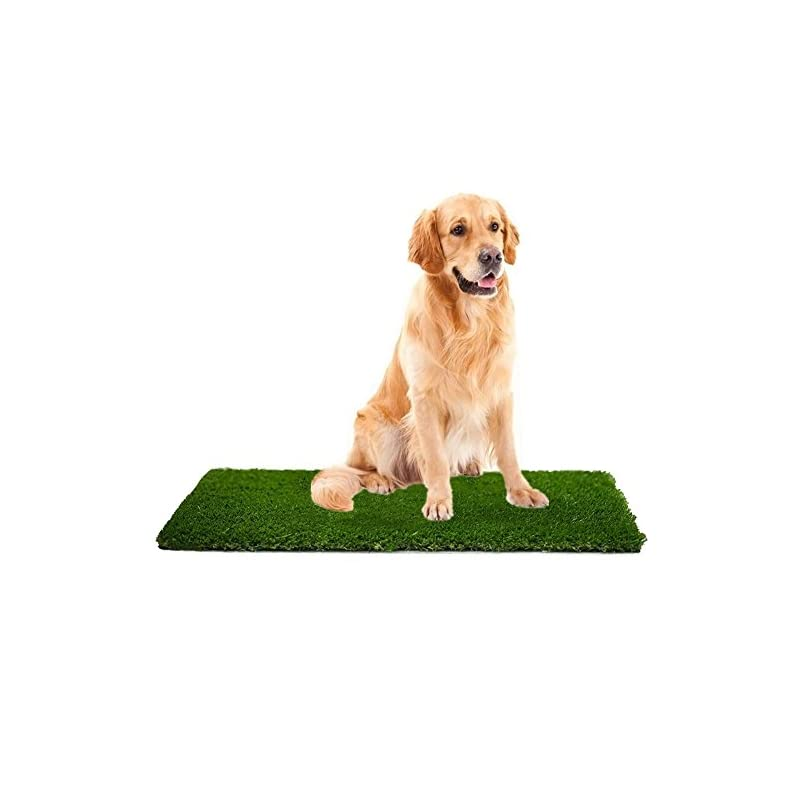 dog supplies online mtbro artificial grass, professional dog grass mat, outdoor potty training and replacement grass mat, easy to clean with drainage holes, 100 ounce/sq.yd, 28inch x 40inch