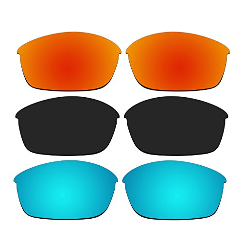 3 Pair Replacement Polarized Lenses for Oakley Flak Jacket Sunglasses Pack - 03 881 Oakley