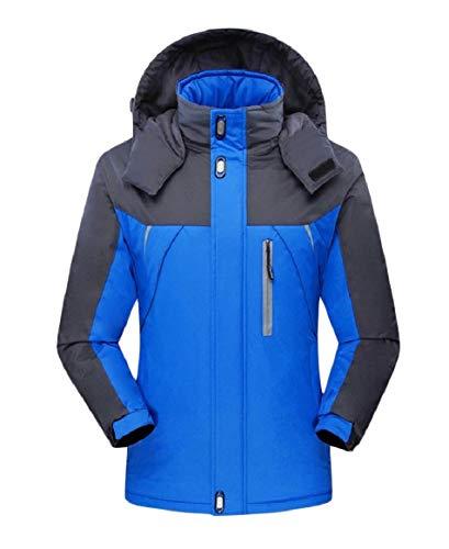RkBaoye Windproof Hit Men Fleece Casual Outwear Loose Color Jacket Blue Down Cqqrw5t