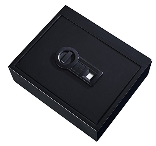 Stack-On PS-15-5-B Drawer Safe with Biometric Lock, Black
