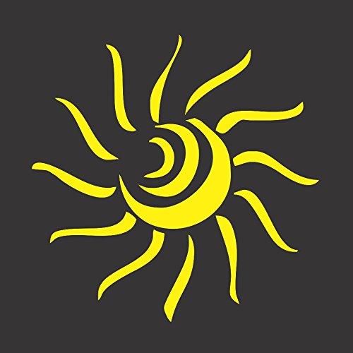 Yellow Sun Abstract- Die Cut Vinyl Window Decal/ Sticker for Car/ Truck 4.5