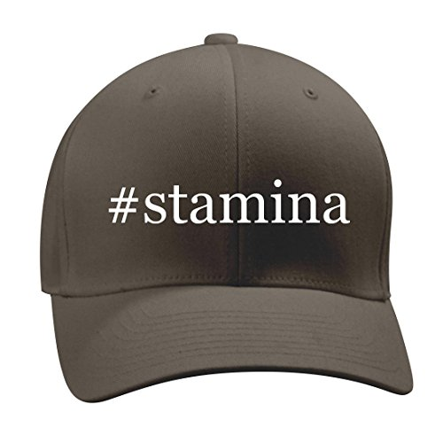 #stamina - A Nice Hashtag Men's Adult Baseball Hat Cap, Dark Grey, Small/Medium