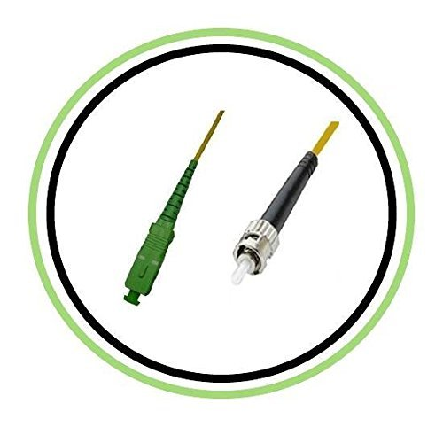 5 Cables Fibra Optica OS1 0.3mt SC/APC a ST SIMPLEX 9/125
