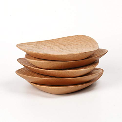 Natural Wood Dessert Dish Hand-made Triangular Cake Plate Set Tableware Sushi Salad Fruit Plates Dinnerware Food Tray ()