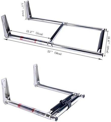 Springfield 1800215 Silver 23 38// x 10 3//4 Inch Boat 2-Step Telescoping Ladder