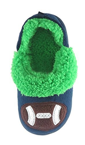 Image of Toddler Boys' Navy Blue Football A-Line Fur Slipper (Toddler Med 7/8)