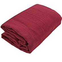 TIAOBU Newborn Baby Cheesecloth Wrap Cloth Blanket Photography Photo Props (One Size, Burgundy )