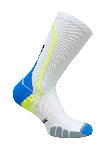 Vitalsox VT5810 Italian Support & Odor Control Crew Socks Best For Running, Travel, Yoga, Gym, Basketball, Sports White, Large