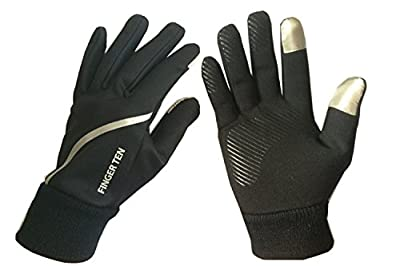 Finger Ten Men and Women Sport Run Warm Fleece Lightweight Comfort Touchscreen Value Pack Winter Glove 3M in Pair