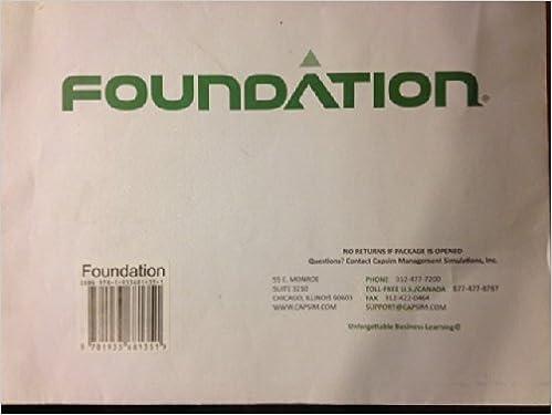 Foundation: Capsim Management Simulation-Guide (12