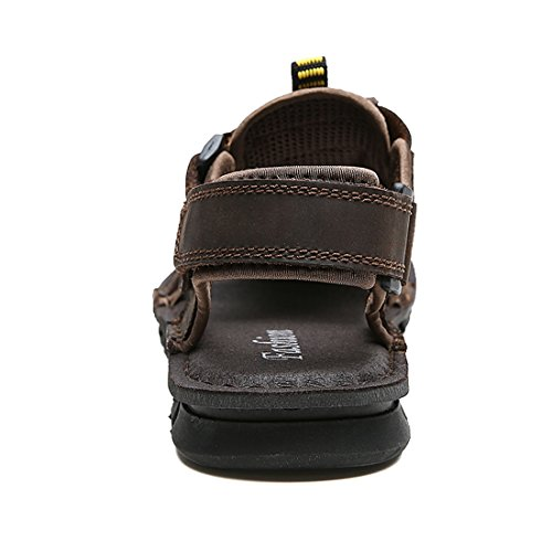 Brown Leather Drak Water Shoes Sandals Men's Breathable TDA Summer Outdoor Beach wHnIS7FvAq