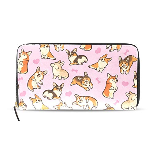 - Wallet Clutch Welsh Corgi Dog - Card Cases Money Organizers, CuiLL PU Leather Handbag for Men Women